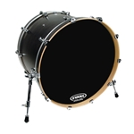 Evans BD22RB-NP EQ3 Resonant Black Bass Drum Head, No Port, 22""