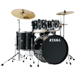 Tama Imperialstar 5pc with Cymbals, Hairline Black