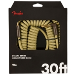 Fender Deluxe Coil Instrument Cable, 30', Tweed