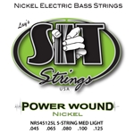 SIT NR545125L Power Wound Nickel Bass Guitar Strings, 5 String Light
