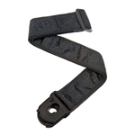 50PLB01 Planet Waves Planet Lock Guitar Strap, Black Satin