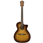 Fender FA-345CE Auditorium Acoustic Guitar, 3-Tone Tea Burst