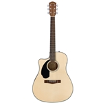 Fender CD-60SCE LH Acoustic Guitar, Left-Handed, Natural