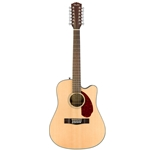 Fender CD-140SCE-12 Acoustic Guitar, Natural