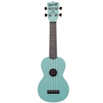 Kala KA-SGW-BL Waterman Soprano Ukulele, Glow In The Dark Aqua