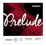 J81044M D'Addario Prelude Violin String Set, 4/4 Scale, Medium Tension