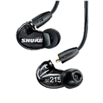 Shure SE215-CL Sound Isolating Earphones, Clear