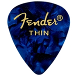 Fender 351 Premium Picks, Thin, Blue Moto, 12 pk