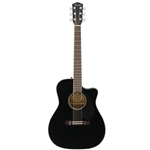 Fender CC-60SCE Acoustic Electric Guitar, Black