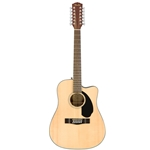 Fender CD-60SCE Dreadnought Acoustic Electric Guitar, Natural