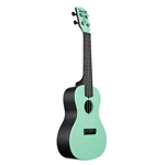 Kala Waterman Concert Ukulele, Sea Foam Green