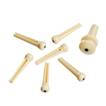Planet Waves Bridge Pins Set, Ivory with Black Dot
