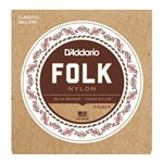 D'Addario Folk Nylon Ball End Classical Guitar Strings