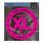 EPS170-5 D'Addario 5-String ProSteels Bass Guitar Strings Light, Long Scale