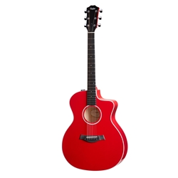 Taylor 214ce-RED DLX Acoustic Electric Guitar