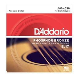 D'Addario EJ17 Phosphor Bronze Acoustic Guitar Strings Medium