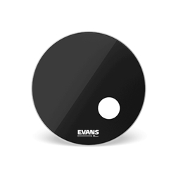 Evans EQ1 Resonant Black Bass Drum Head, 22""