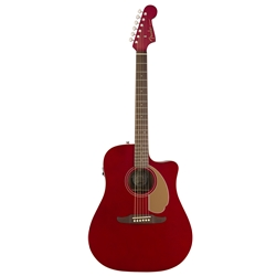 Fender Redondo Player Acoustic Electric Guitar, Candy Apple Red