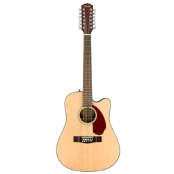 Fender CD-140SCE-12 Acoustic Electric Guitar, Natural