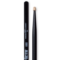 Vic Firth American Classic 5A Wood Tip Drumsticks, Black Finish