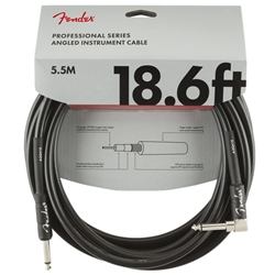Fender Professional Instrument Cable (Straight - Right Angle), 18.6'
