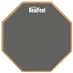 RealFeel RF12D by Evans 2-Sided Practice Pad, 12 Inch