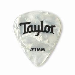 Taylor Celluloid 351 Picks, White Pearl, .71mm,12 pk